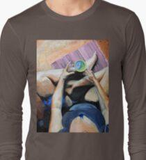 Blue Humanoid in My Tea Is Me? Long Sleeve T-Shirt
