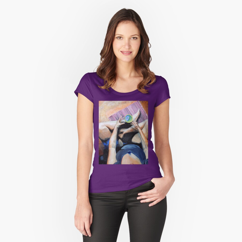Blue Humanoid in My Tea Is Me? Fitted Scoop T-Shirt