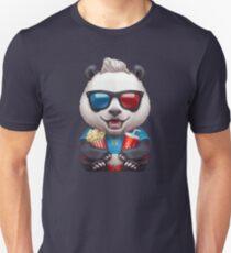 Panda Wearing 3d Glasses Unisex T-Shirt