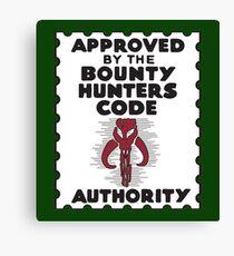 Bounty Hunters Code Authority Canvas Print