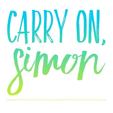 Carry on, Simon by fablelock