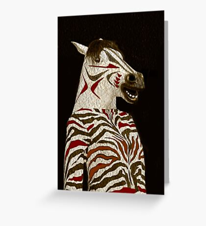 Miss Zebra Dressed In Her Best!  Greeting Card