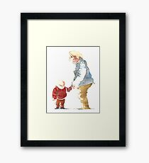 Grandmother with child Framed Print