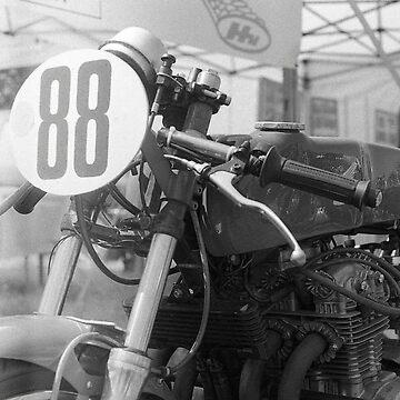 paddock vintage motorcycle (France)  by VisualAffection