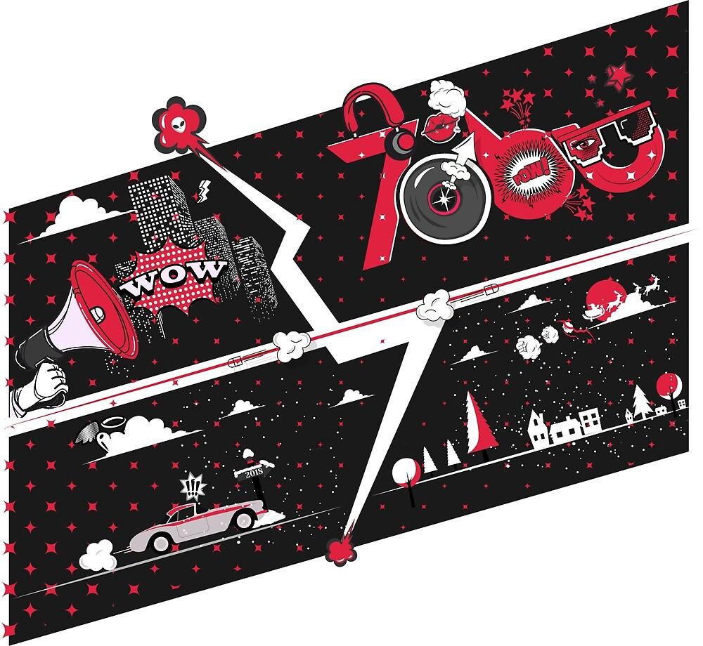 Tobu Comic Art Red by tobu