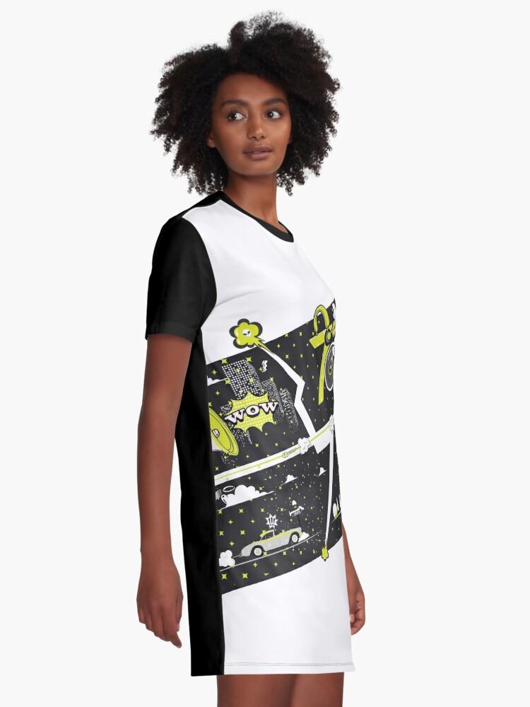 Alternate view of Tobu Yellow Comic Art Graphic T-Shirt Dress