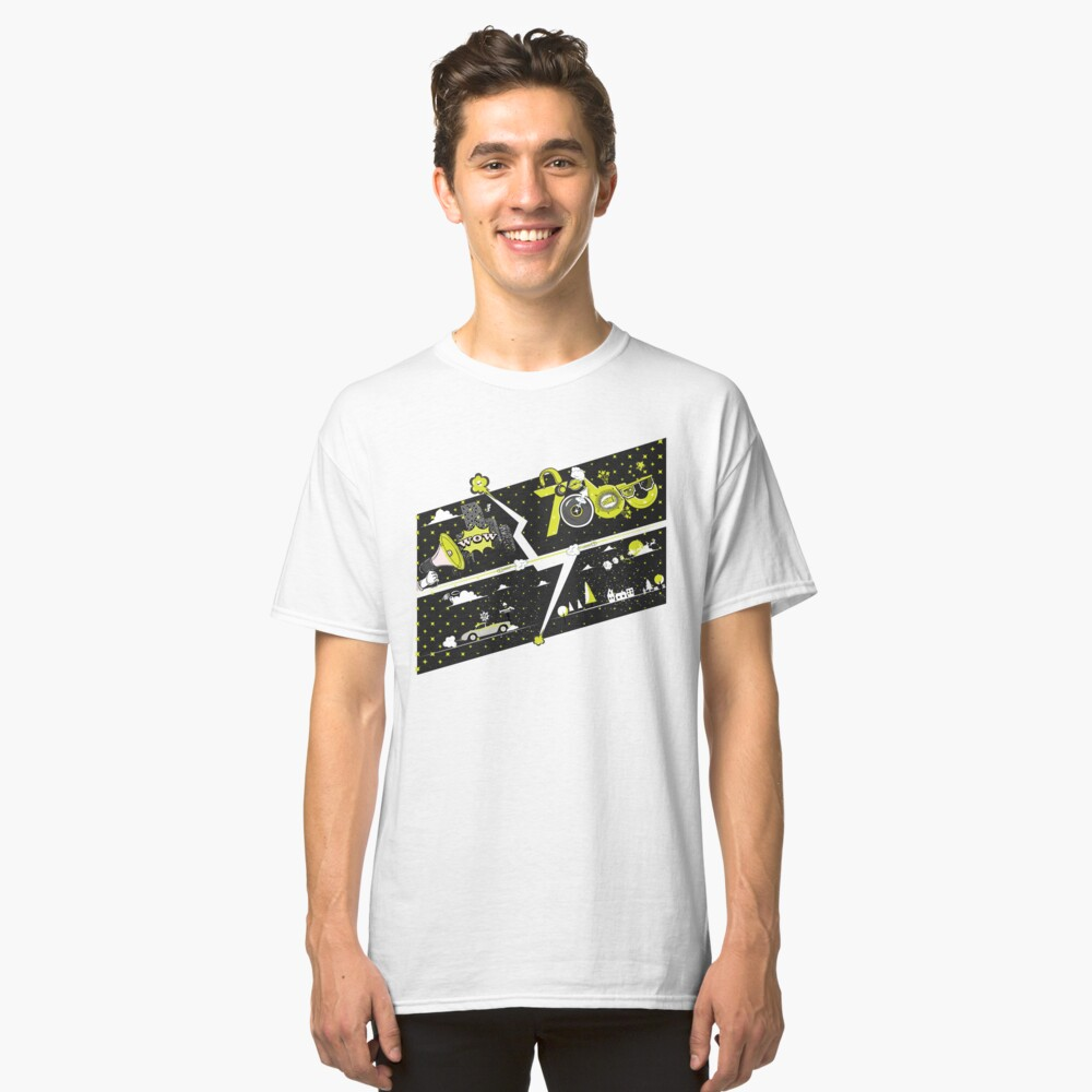 Tobu Yellow Comic Art Classic T-Shirt