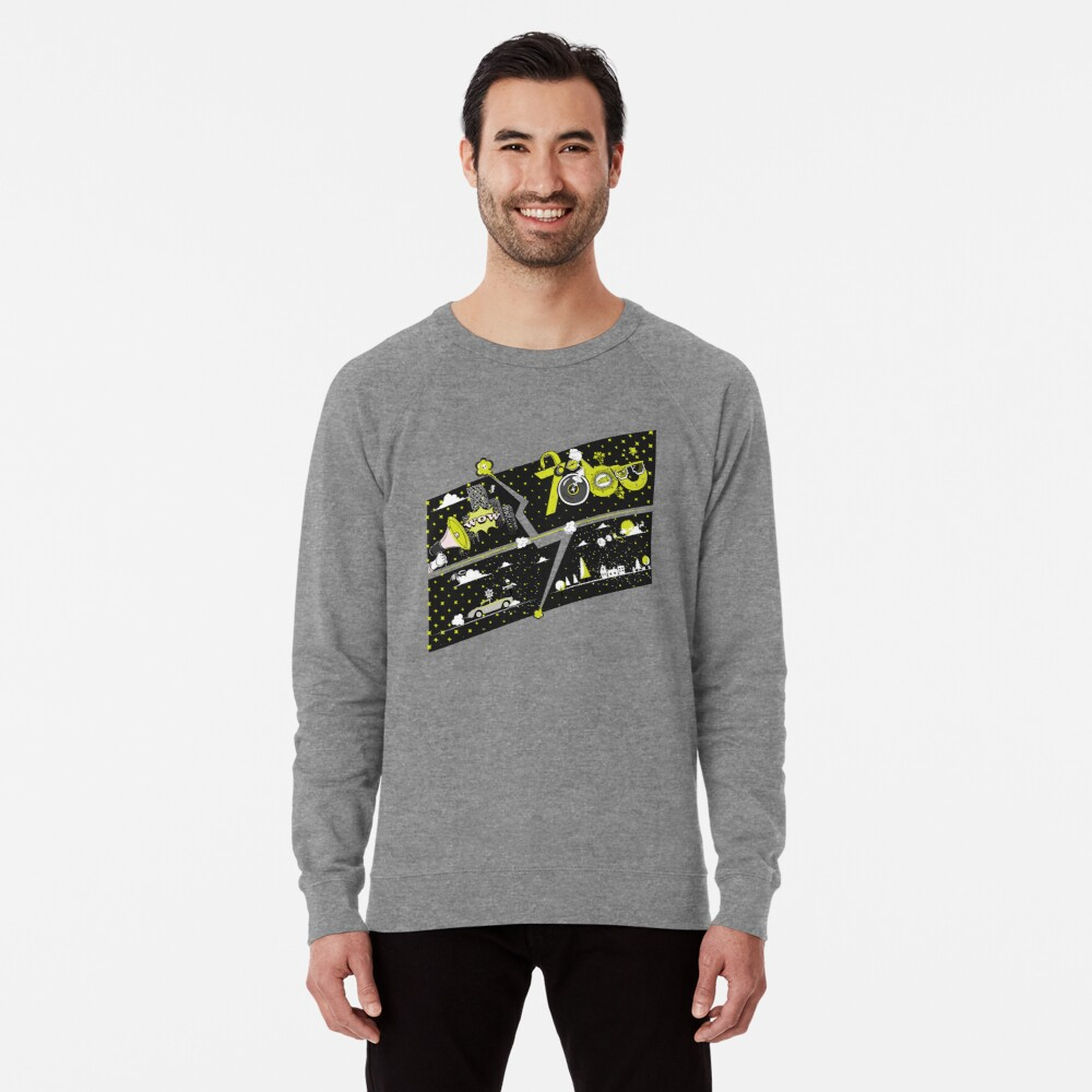 Tobu Yellow Comic Art Lightweight Sweatshirt