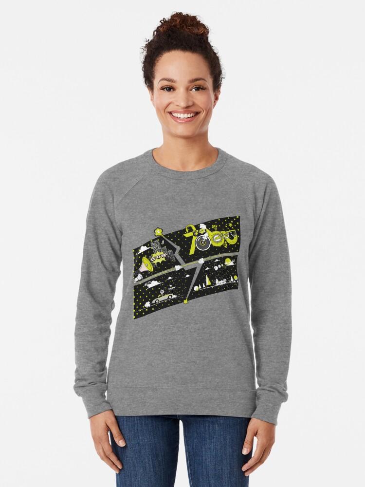 Alternate view of Tobu Yellow Comic Art Lightweight Sweatshirt
