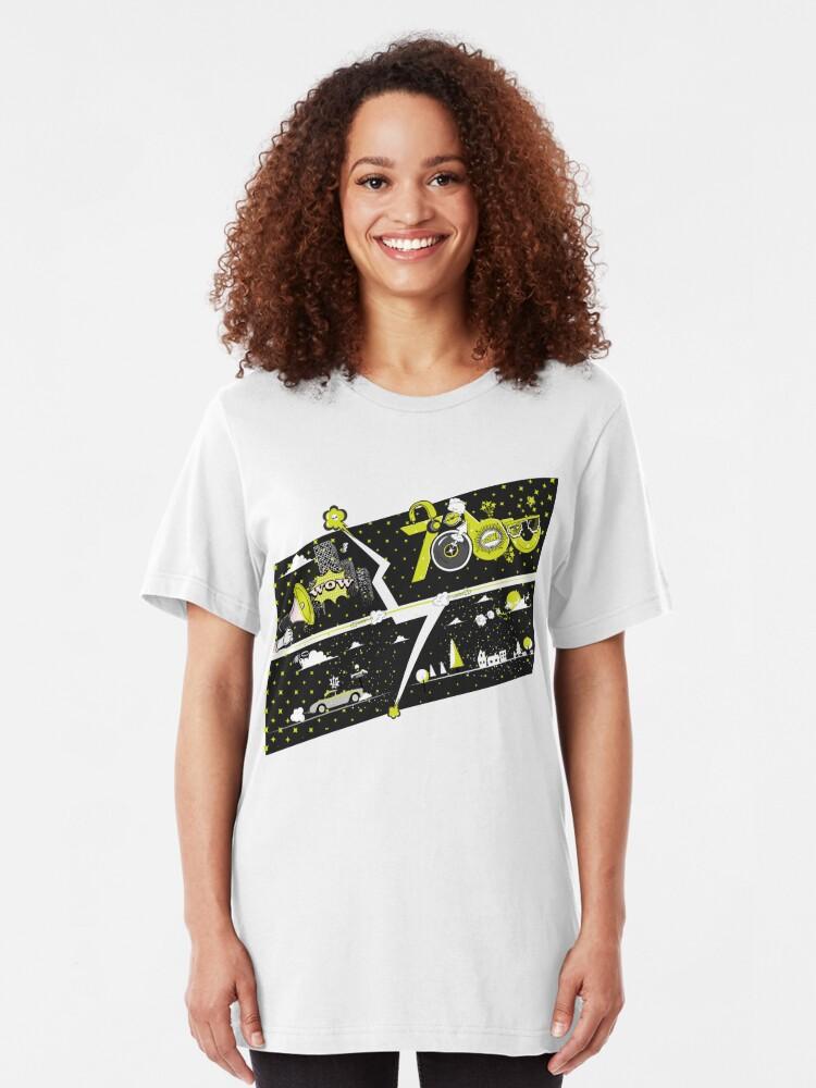 Alternate view of Tobu Yellow Comic Art Slim Fit T-Shirt