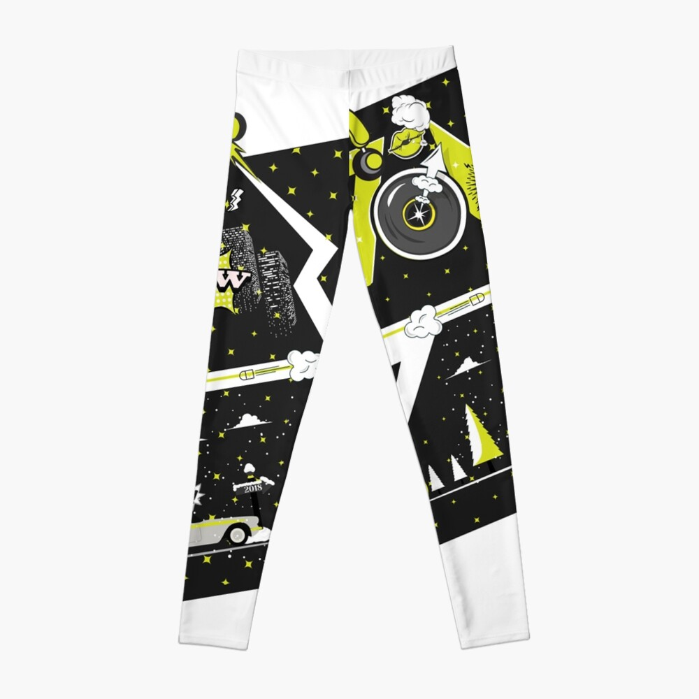 Tobu Yellow Comic Art Leggings
