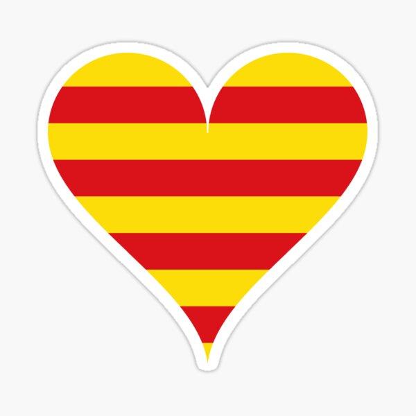 Corazón Cataluña Pegatina