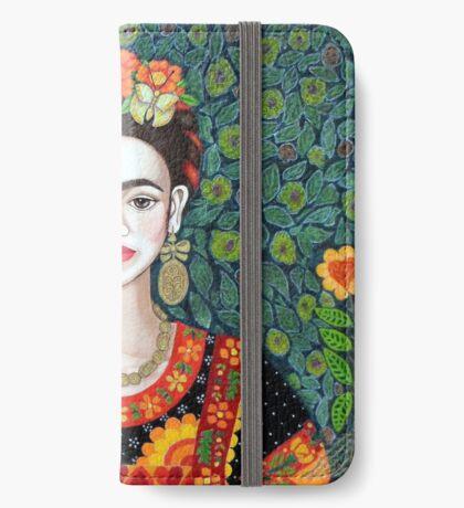 Frida, Queen of Hearts closer II iPhone Wallet