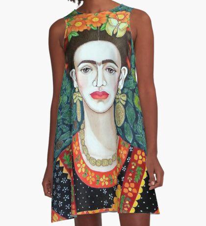 Frida, Queen of Hearts closer II A-Line Dress