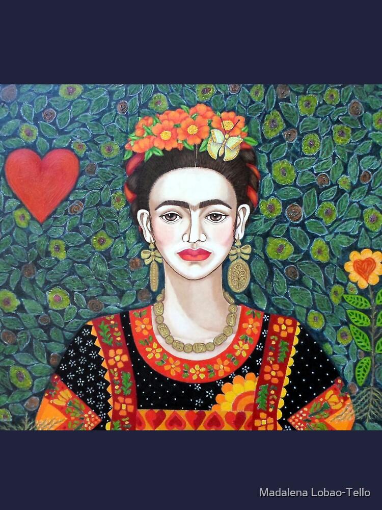 Frida, Queen of Hearts closer II by madalenalobaote