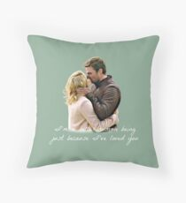 Olicity Wedding Vows - I'm A Better Human Being Just Because I've Loved You  Throw Pillow