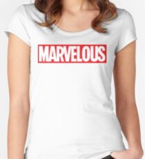 MARVELOUS TEE Women's Fitted Scoop T-Shirt