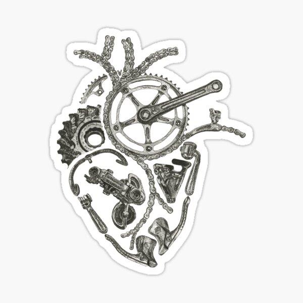 Anatomical Cycling Heart Sticker