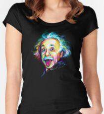 Albert Einstein Fitted Scoop T-Shirt