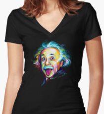 Einstein Women's Fitted V-Neck T-Shirt