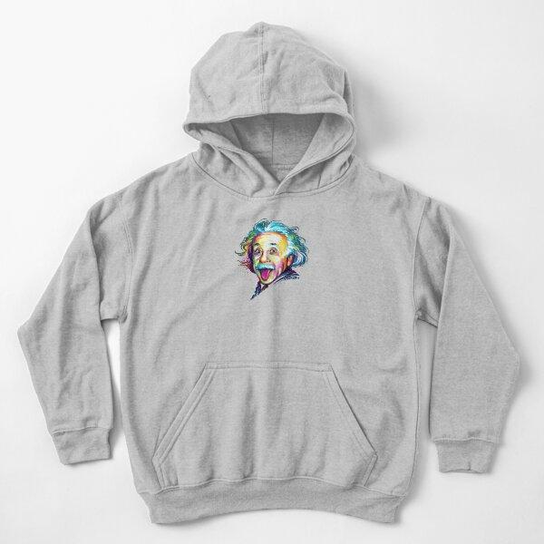 Albert Einstein Sudadera con capucha para niños
