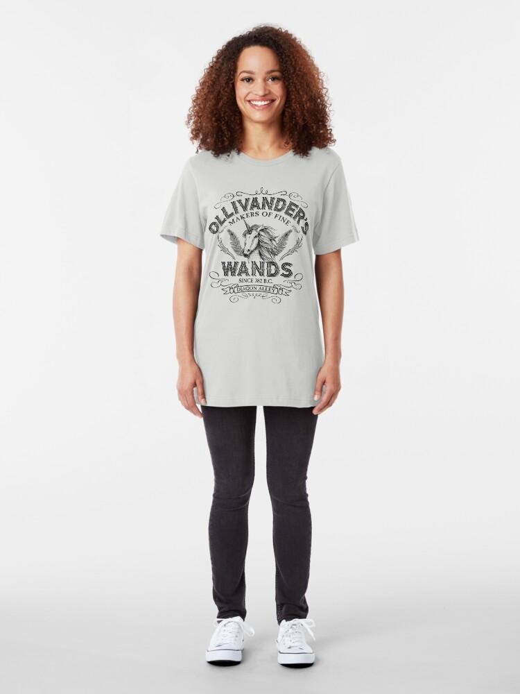 Alternative Ansicht von Ollivanders Zauberstab Shop Slim Fit T-Shirt