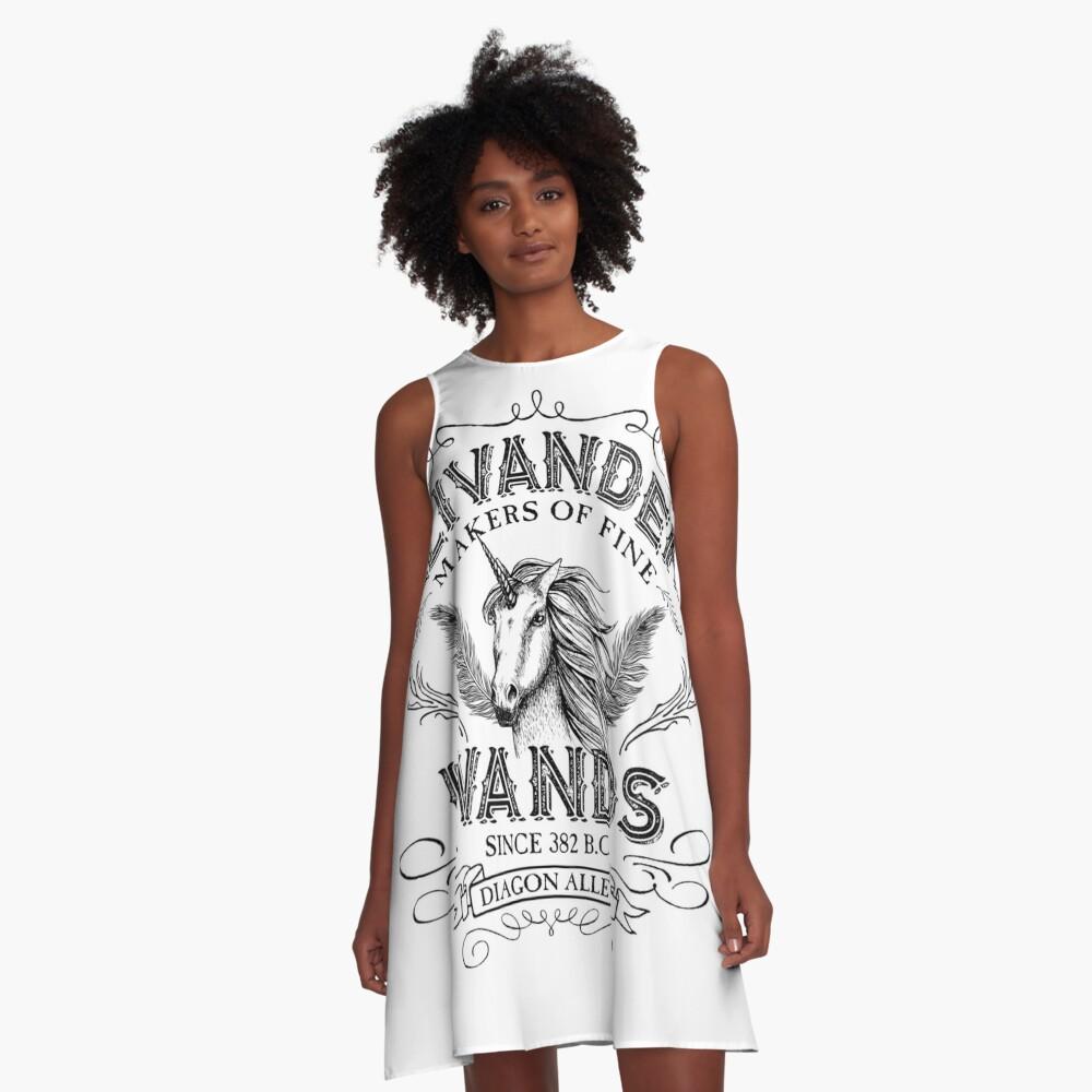 Ollivanders Zauberstab Shop A-Linien Kleid