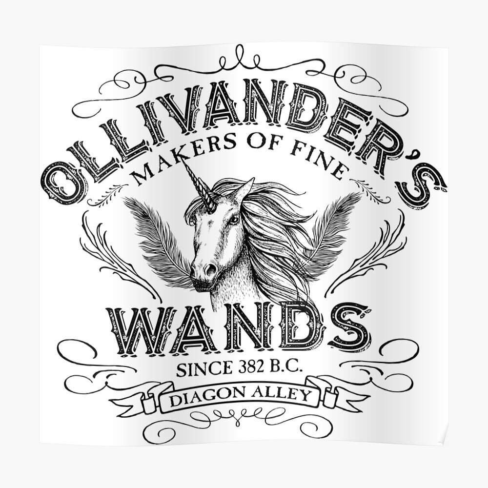 Ollivanders Zauberstab Shop Poster
