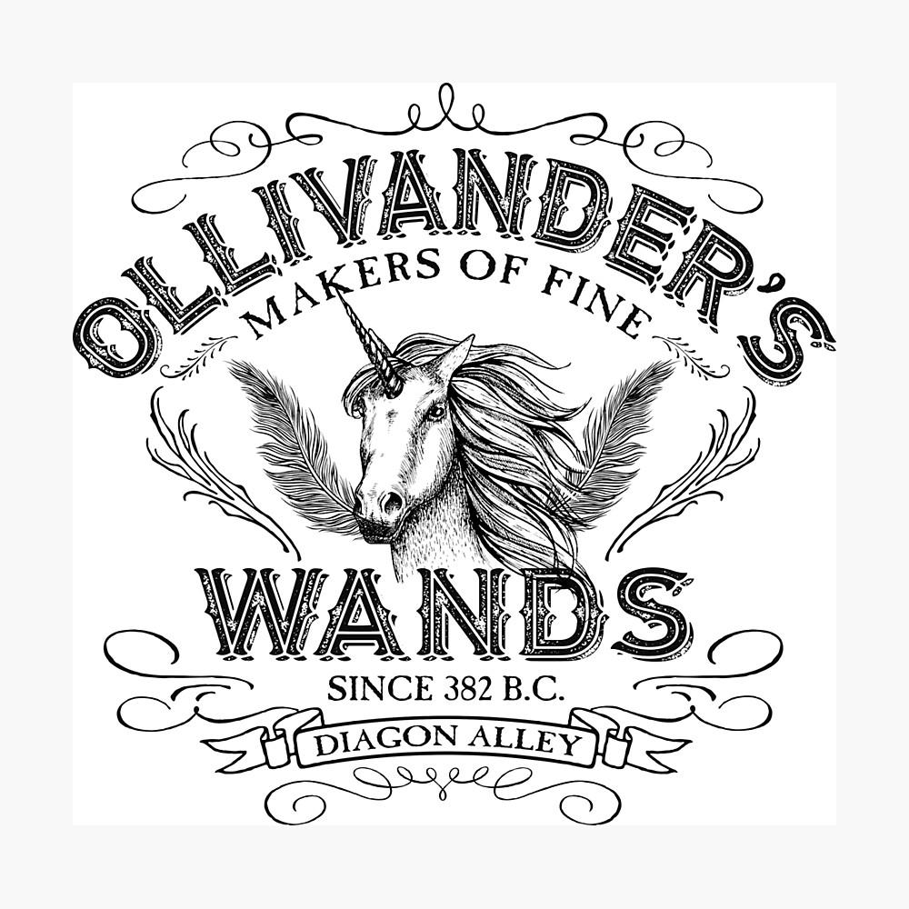 Ollivanders Zauberstab Shop Fotodruck