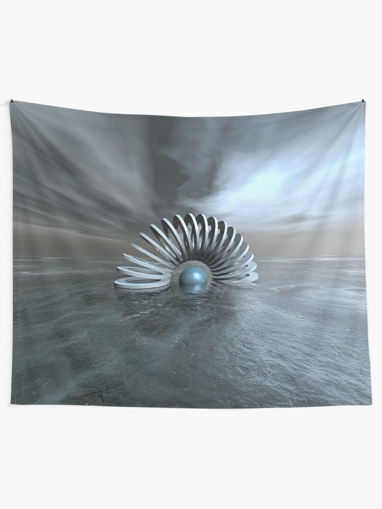 Alternate view of Surreal Frozen Sea Tapestry