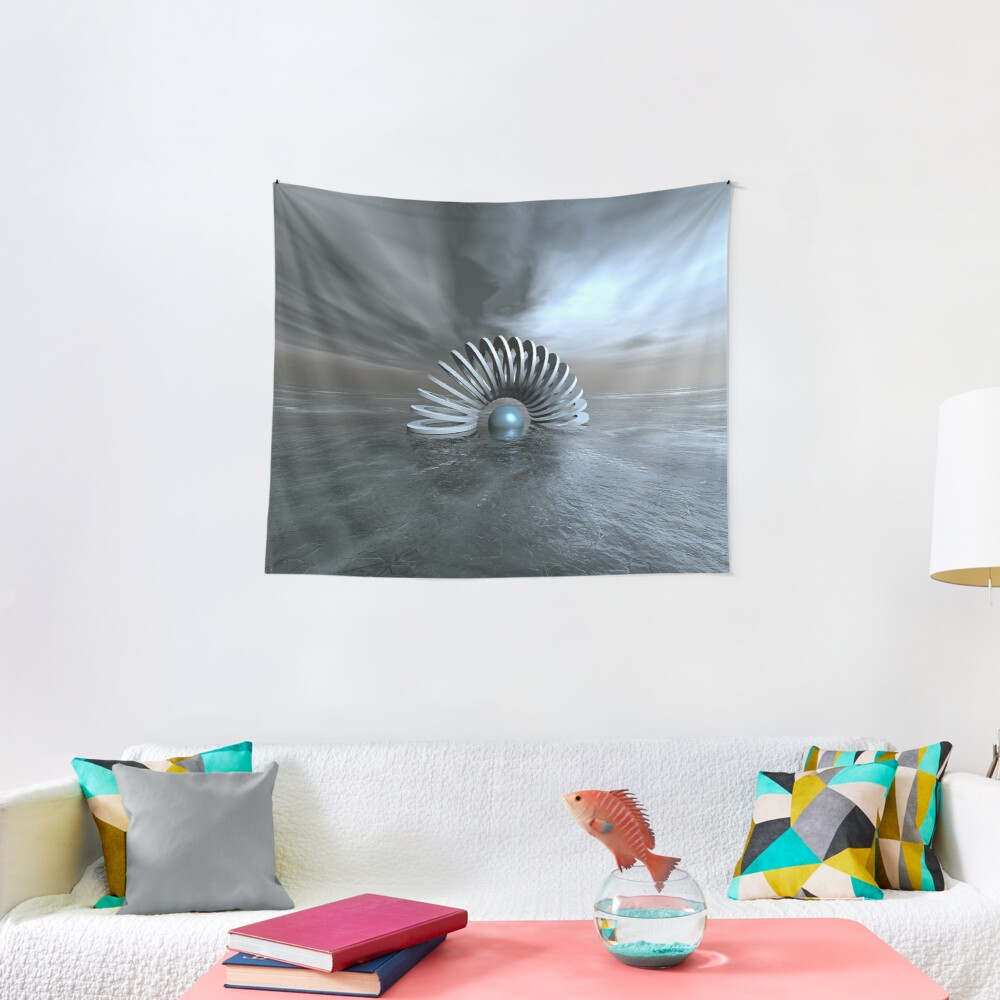 Surreal Frozen Sea Tapestry