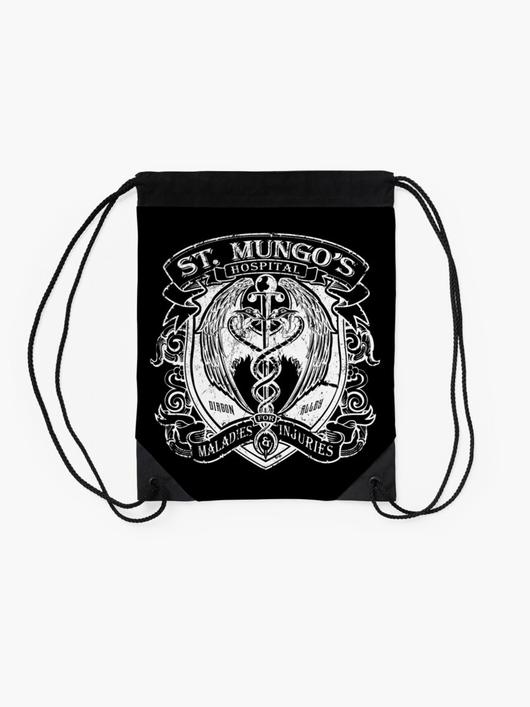 Alternate view of St. Mungo's Hospital for Magical Maladies and Injuries Drawstring Bag