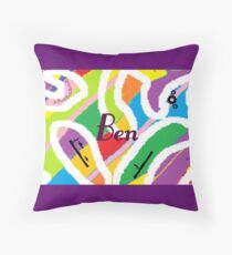 Ben - original artwork to personalize your gift Throw Pillow