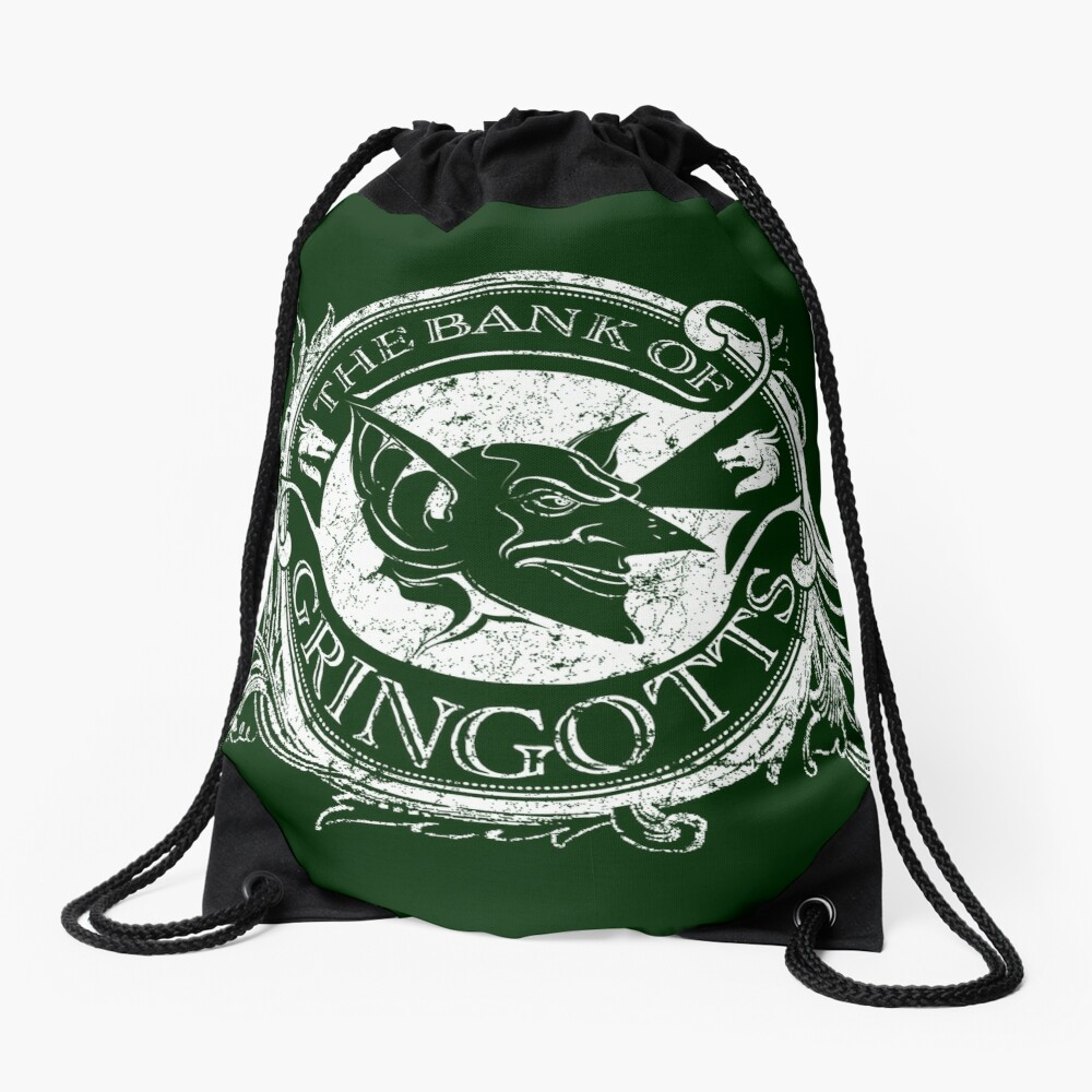 Bank of Gringott's Drawstring Bag