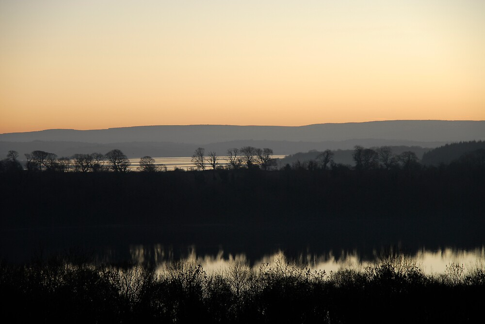 Lough Erne Sunset. by peter boalch.