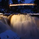 Coulonge Falls at Night by JohnEvans