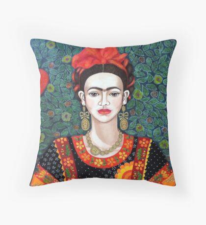 Frida,  Queen of Hearts closer I Throw Pillow