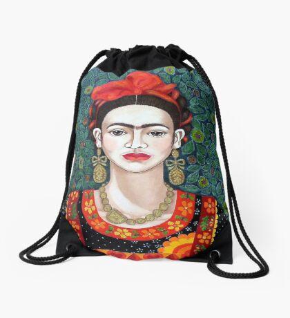 Frida,  Queen of Hearts closer I Drawstring Bag
