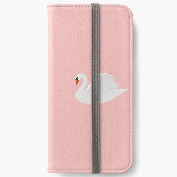swans on millennial pink  iPhone Wallet