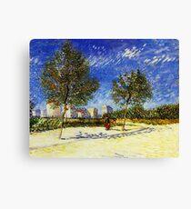 Van Gogh - A Suburb of Paris Canvas Print
