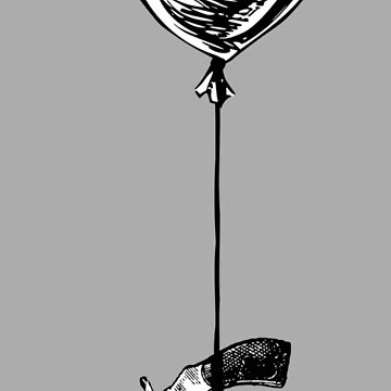 Gun Hanging From Balloon by chalicevvinter