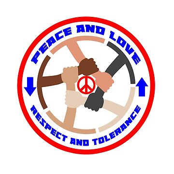 T-shirts with peace and tolerance logo by oscarmega
