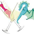 Drunk Dragons by fuzzydragons