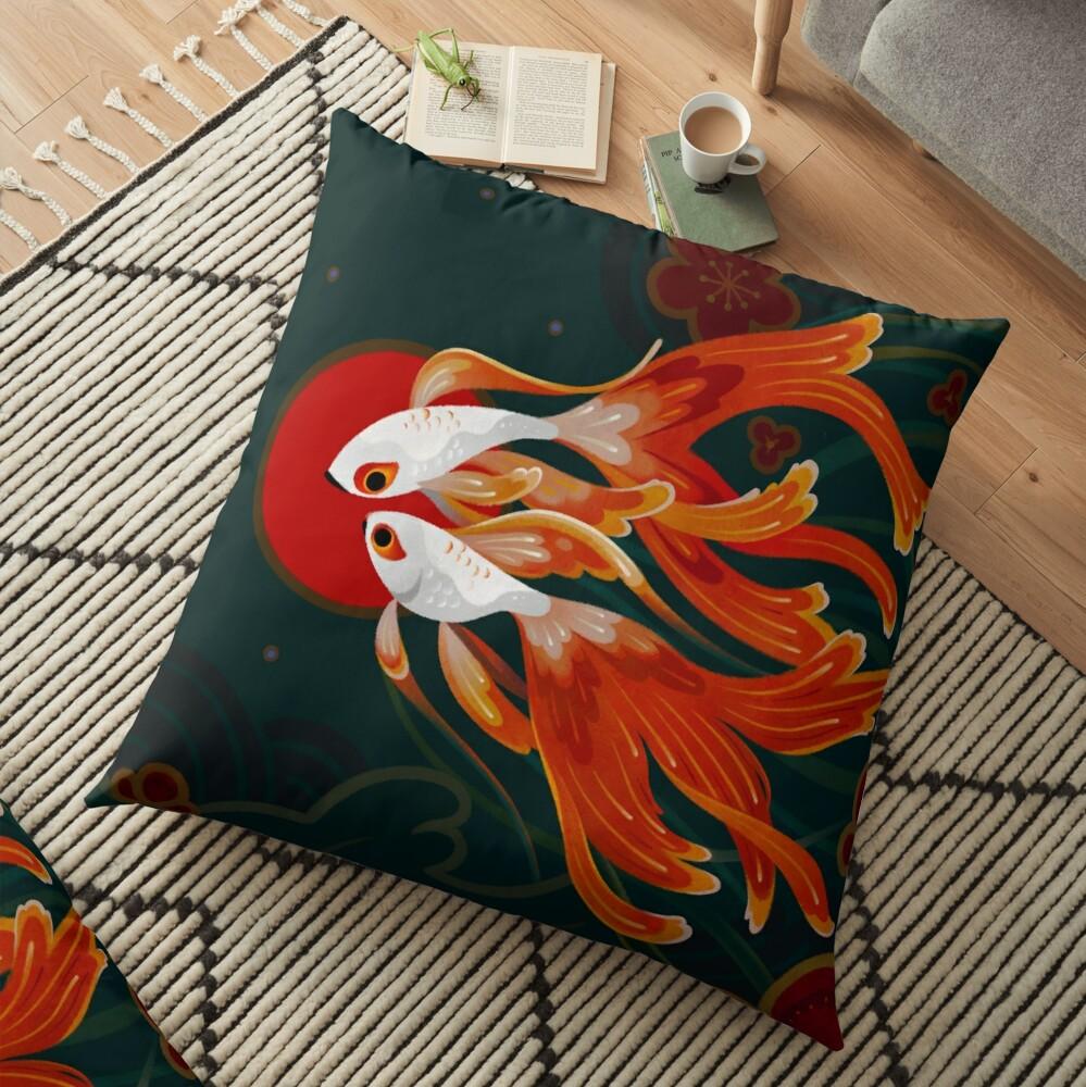 Two comets Floor Pillow