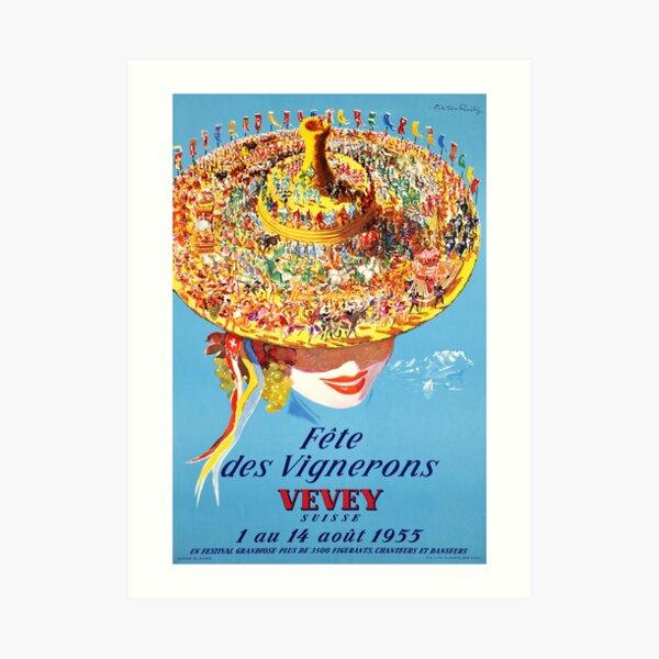 Fête des Vignerons, Vevey Suisse 1955, Poster Art Print