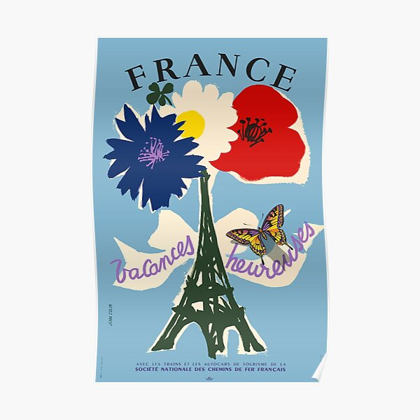 France, Vacances heureuses, Travel Poster Poster