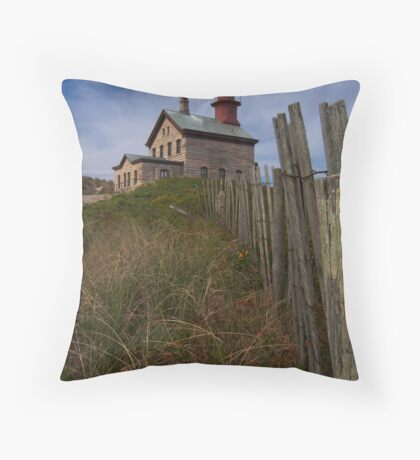 North Lighthouse Block Island Throw Pillow