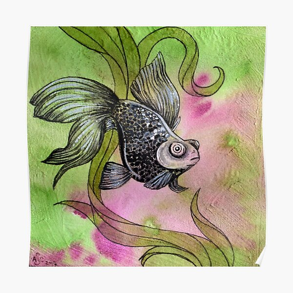Moorfish on Green Poster
