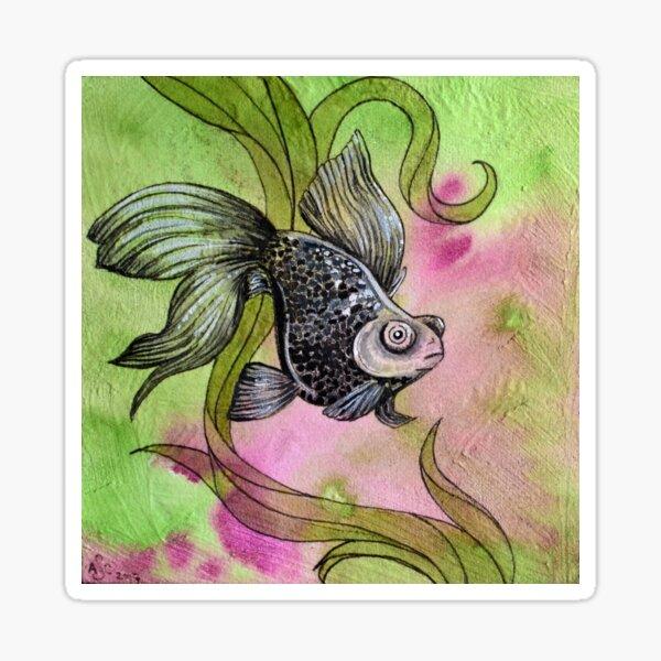 Moorfish on Green Sticker