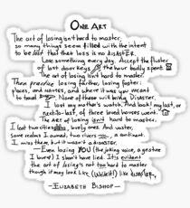 One Art poem Sticker